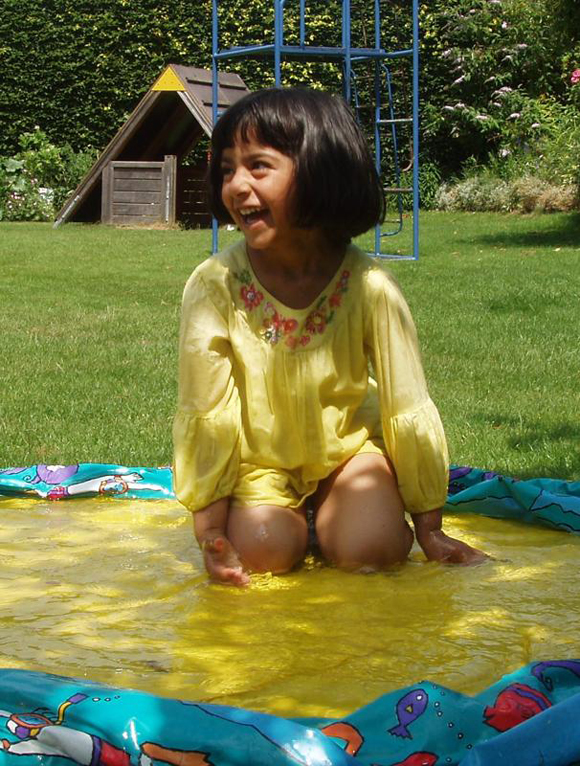 In Summer we often encourage water play in the garden