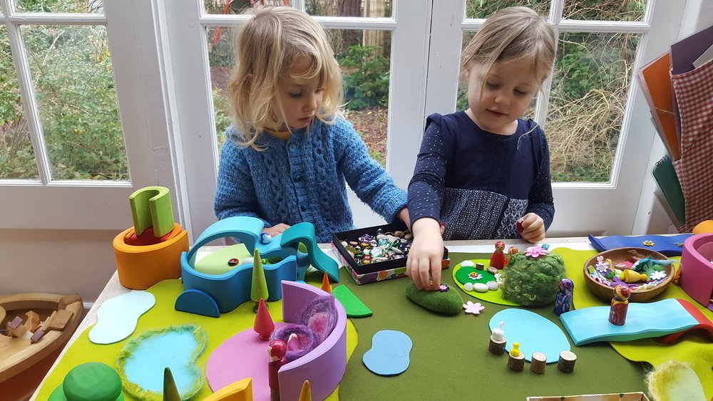 An atmosphere of peace and joy descends as children bring to life their own little gardens