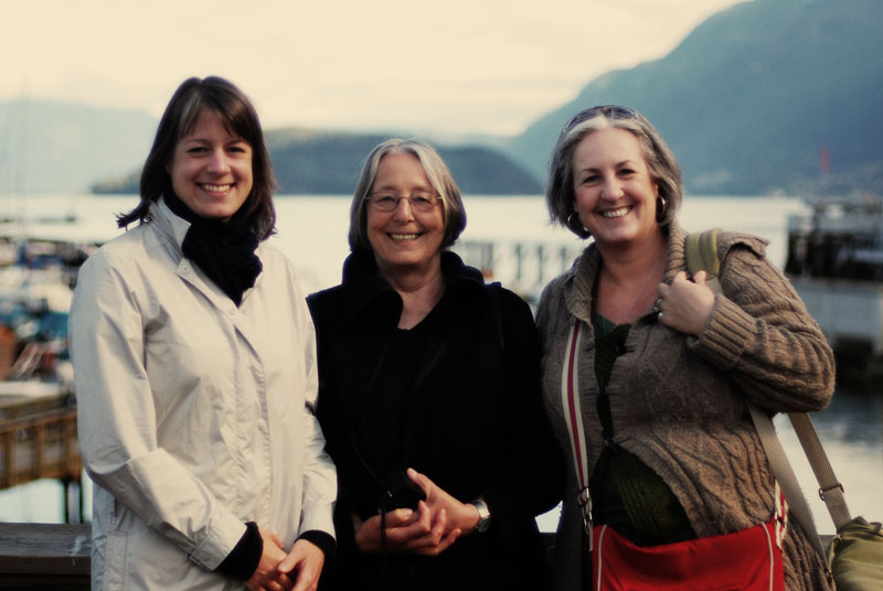 Celebrating my mom's 70th birthday in May 2010 with a trip to Tofino.
