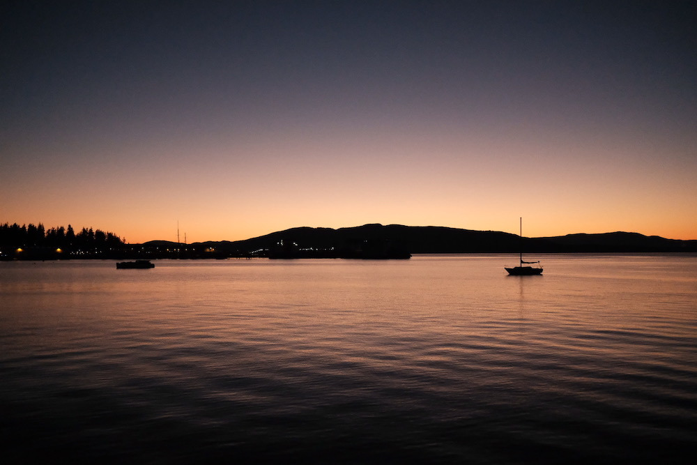 Dusk over the San Juan Islands. Taken with my new Fujifilm XT2 camera!