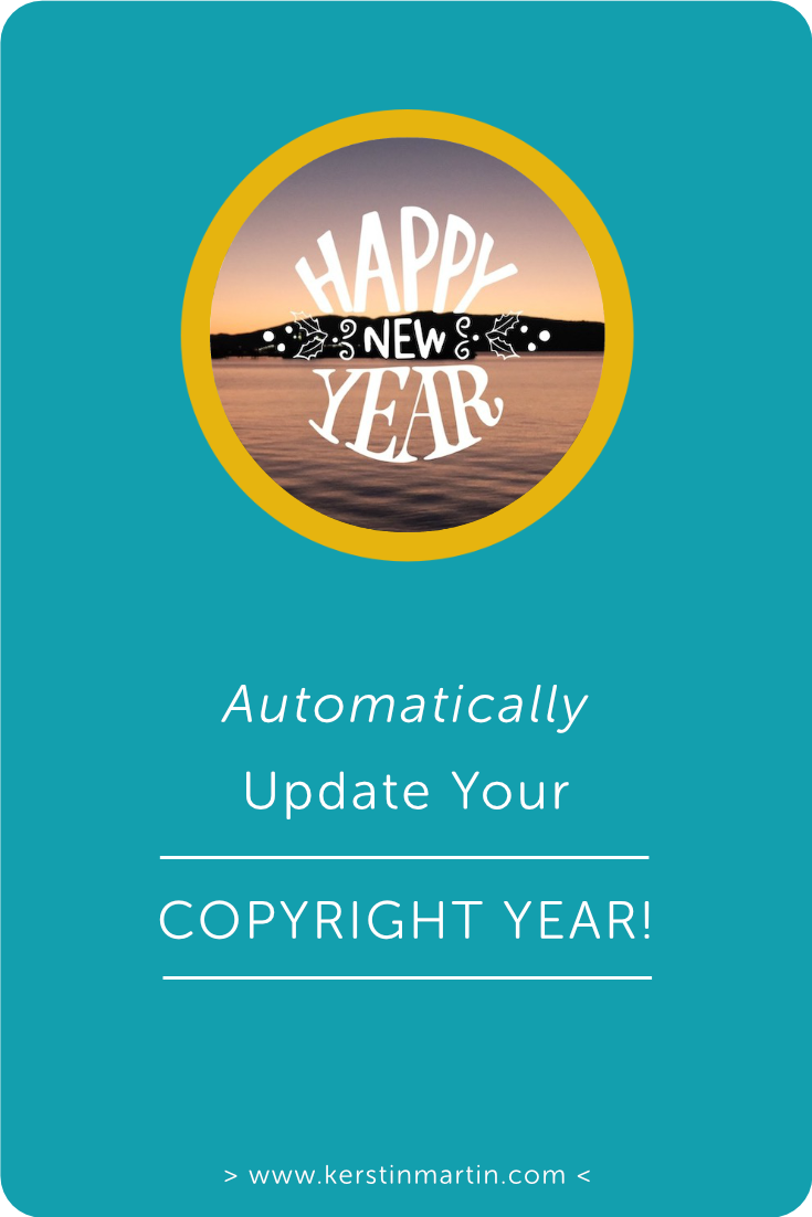 How to AUTOMATICALLY update your Copyright Notice YEAR・Kerstin Martin Squarespace Studio