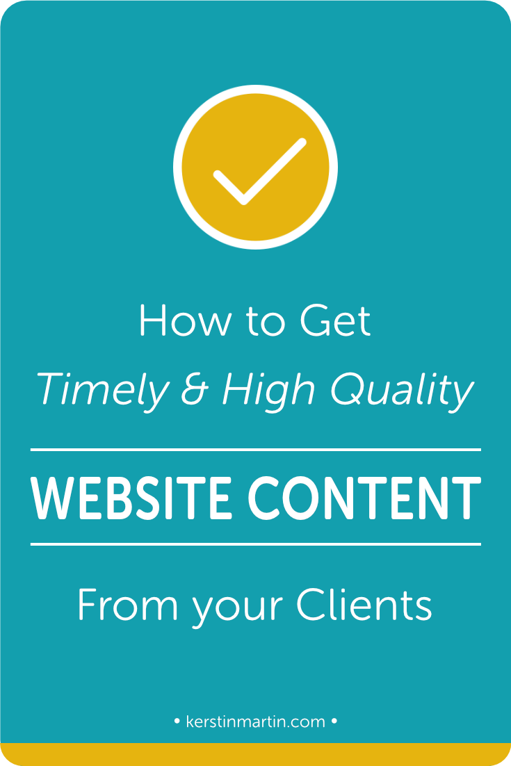 How to get timely & high quality website content from your clients・Kerstin Martin Squarespace Studio