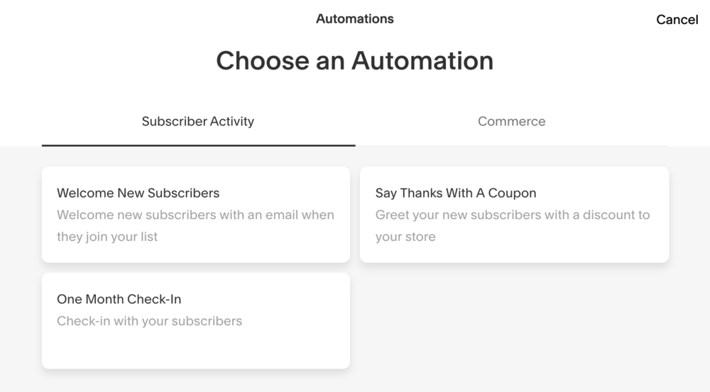 Squarespace Campaigns offers awesome Automation Features・Kerstin Martin Squarespace Studio