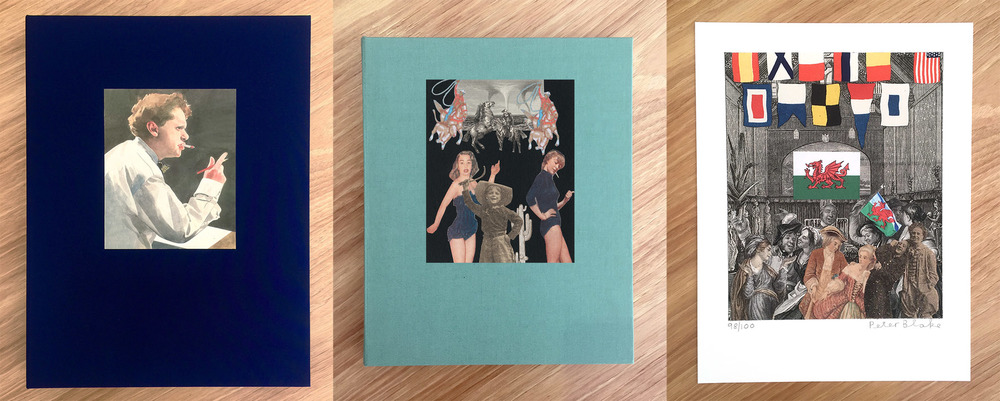 Enitharmon Editions De Luxe clothbound limited edition book includes a print by Sir Peter Blake.