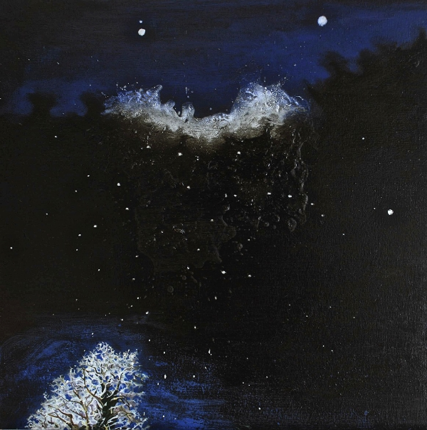 ©Ann Quinn 'The Night Was As Light As A Feather' oil on panel, 38cmx38cm £950
