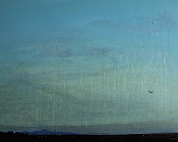 ©Ann Quinn 'Flight Over Yazd' oil on board, 42cmx32cm £800