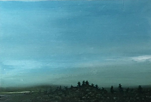 ©Ann Quinn 'The Island, Next to the Ocean' oil on panel, 15cmx10cm £300