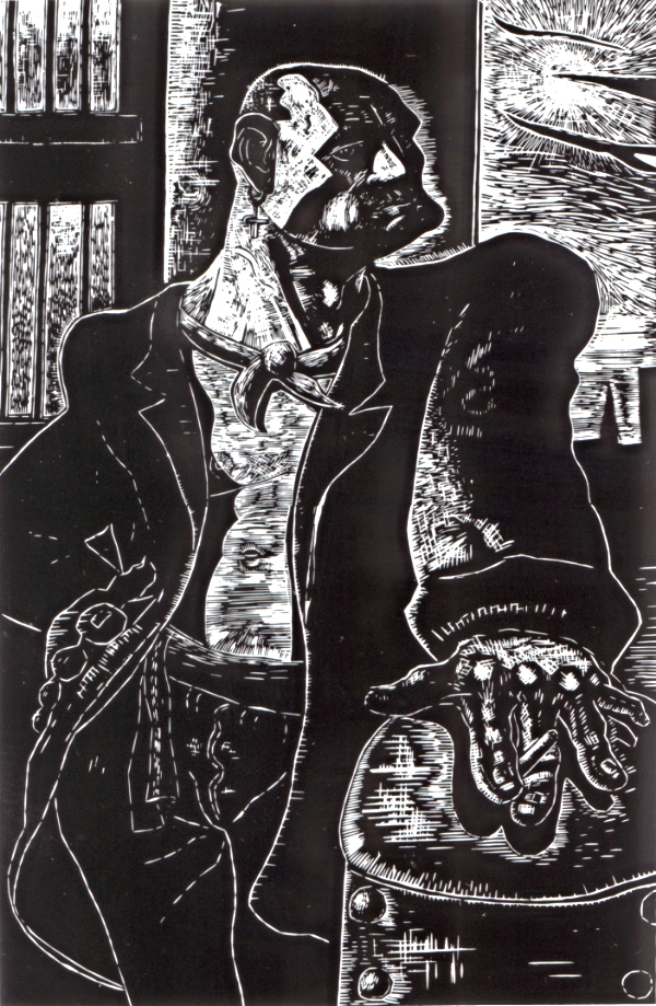 ©Peter Howson 'Noble Dosser' woodcut, 183 x 121cm £2400