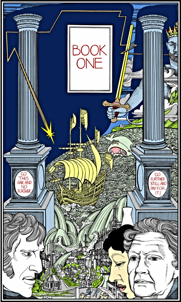 ©Alasdair Gray 'Lanark-Book One' screenprint, 56 x 76cm £800