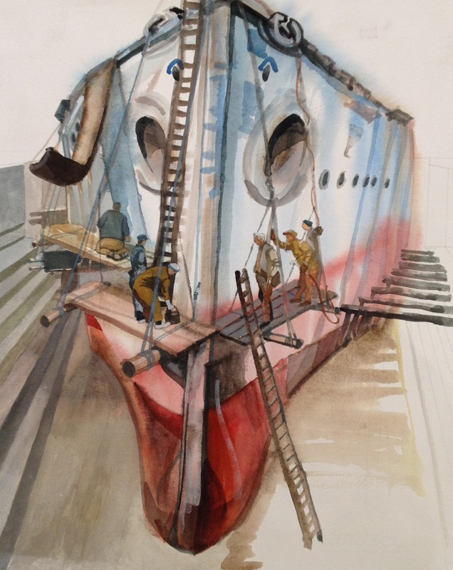 Red Hull watercolour 36x44cm £480