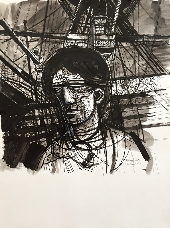 Billy Budd ink drawing
