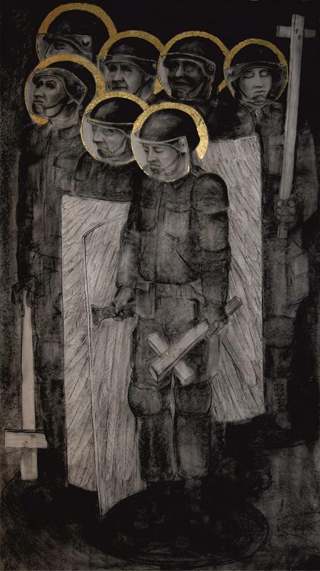 Riot Angels 122x216cm