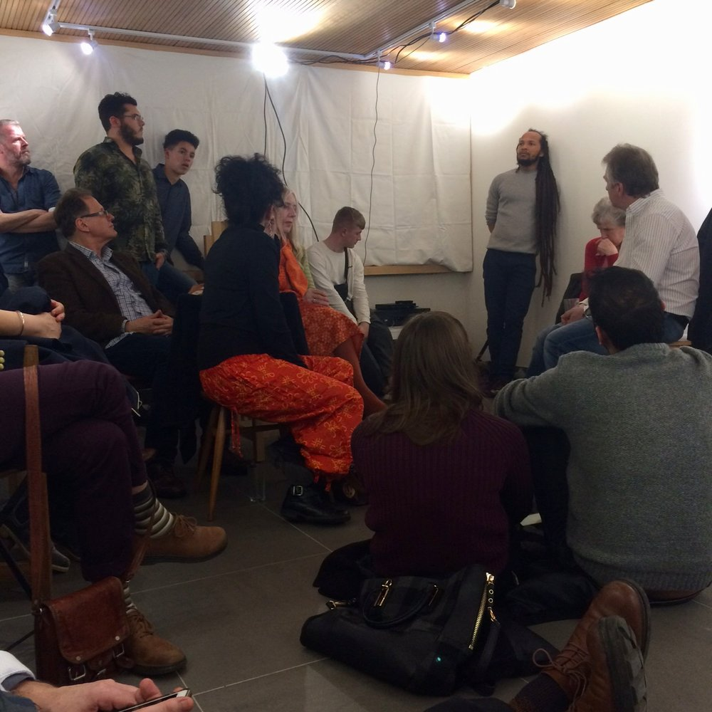 Post screening discussion in the gallery 2018