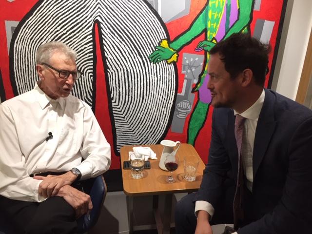 Derek chatting to local Labour MP Stephen Morgan