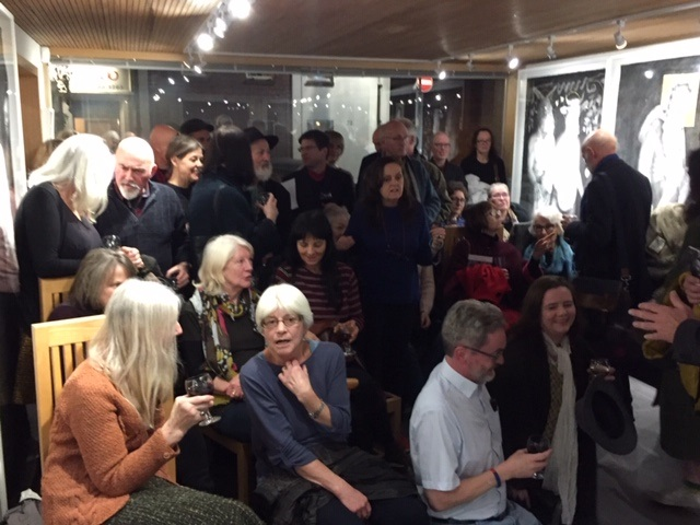 Cold January night crowd for Pete Codlings Q&A