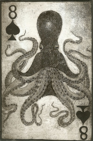 Jane Daniel 'The Card of Life's Journey' etching