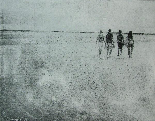 Emma Buckmaster 'Walking' etching
