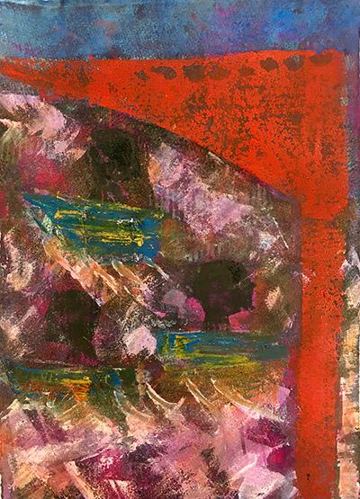 Hilary Rosen 'Transition' monoprint