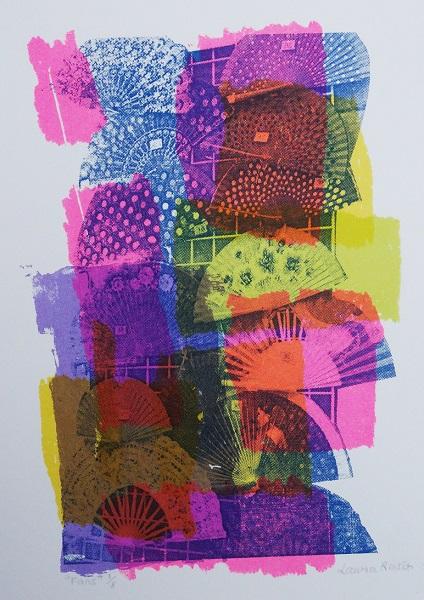 Laura Reiter 'Fans' lithograph
