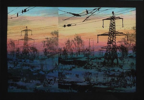 Alison Lumb 'Journey Home' monoprint & archive inkjet