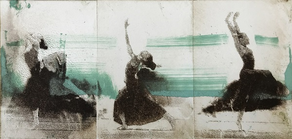 Margaret Ashman 'Life's a Dance' photo-etching & monotype