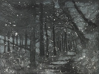 Marie Martin 'Winter Path' etching