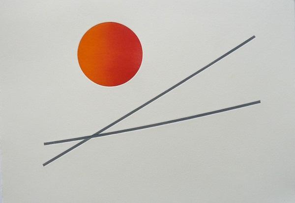 Antoinette Momtahan 'Alignment' relief print
