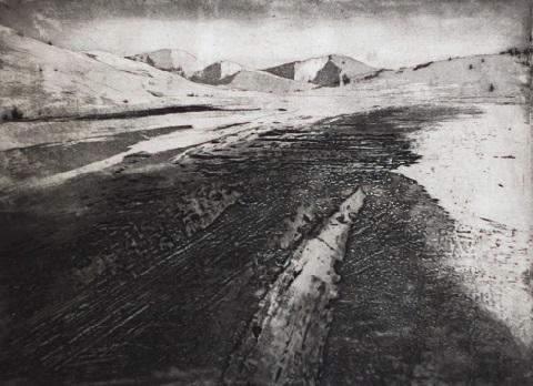 Giulio Bonatti 'North' etching & collograph