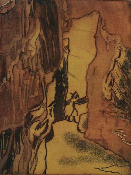 Peg Morris 'Cave at AS Catedrais' viscosity etching