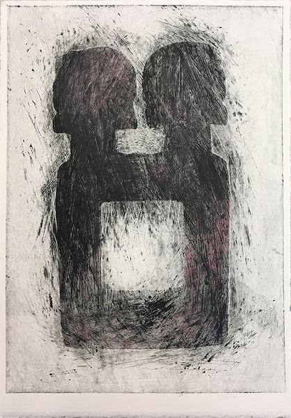 Bronwen Paterson 'Reflect' monoprint