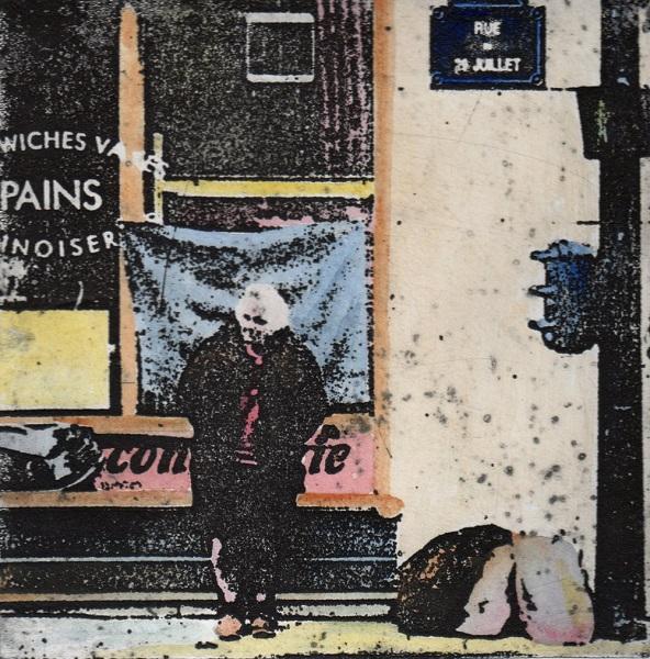 Sally Gumbridge 'Rue de 29 juillet' hand-coloured solar plate etching