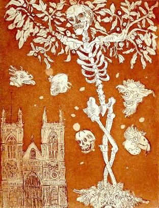 Stephen Mumberson 'Abbey' etching
