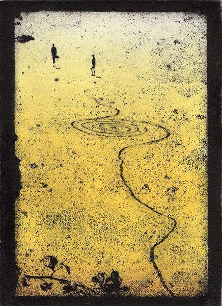 Theresa Pateman 'Beach Bodies' photo-etching with aquatint
