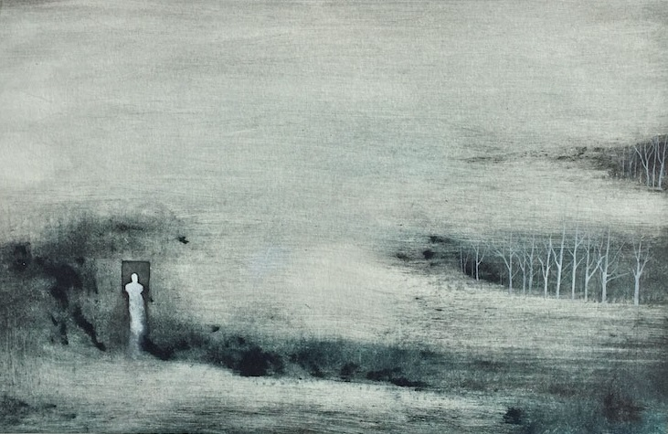 Frederico Baca 'Through Doorways III' monoprint