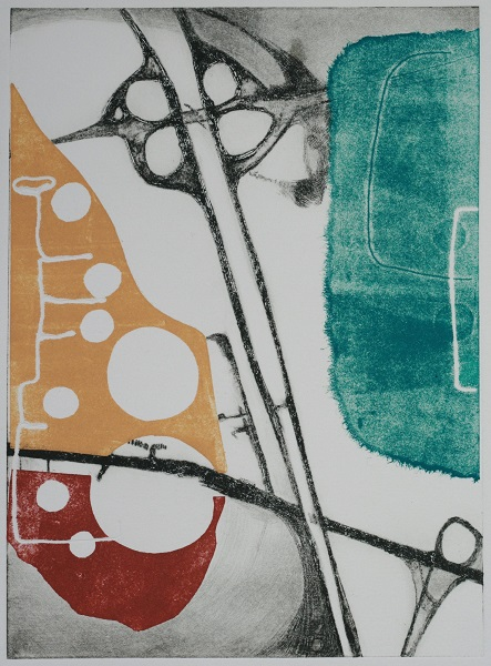 Victoria Johns 'Or is It?' monoprint with drypoint