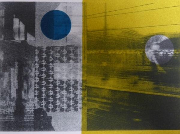 Sarah Frances 'Vienna to Munich' polyplate litho & block print