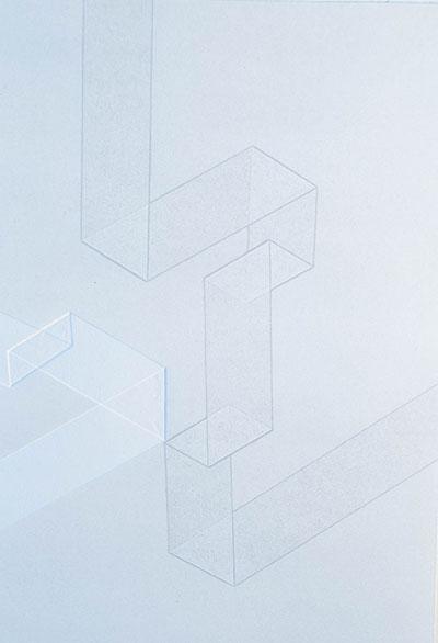 Alison Bernal 'Tracks 3' counterproof & blind emboss