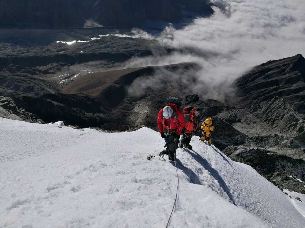 On the ridge of the Lobuche