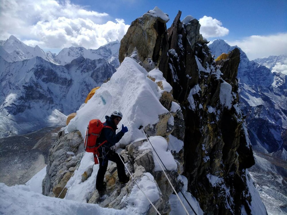 Ama Dablam Ridge. (Photo: Marjeta Breznik)