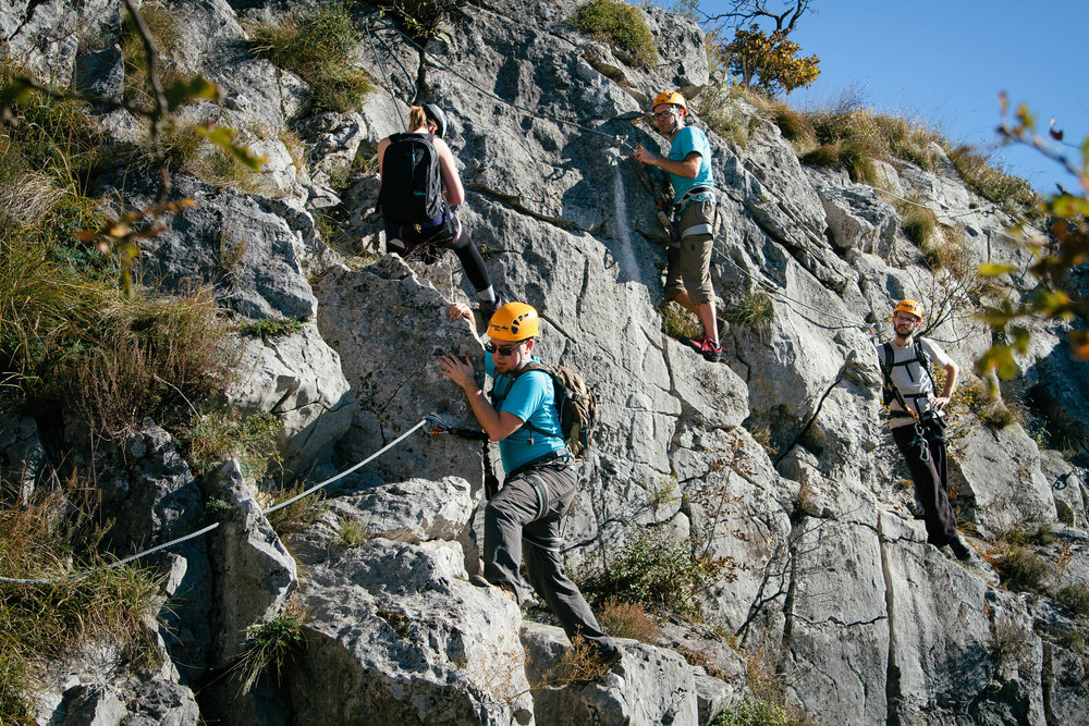 Climbing in Val Rosandra and Osp