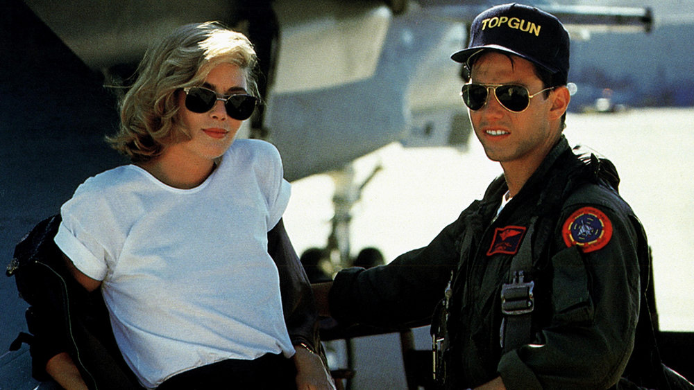 Me and my co-star Tom Cruise just casually leaning on a jet plane in our aviators.