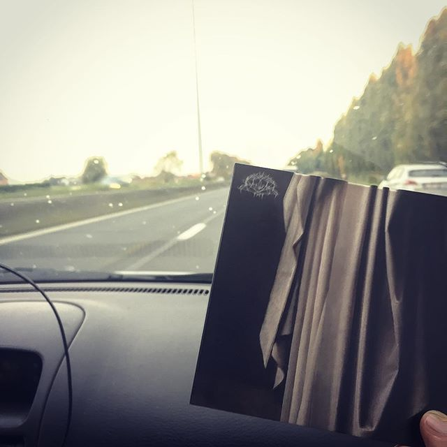 On the road to Evil or Die festival. Proudly endorsing #krallice on the car stereo.  #herfst #deathmetal #blackmetal