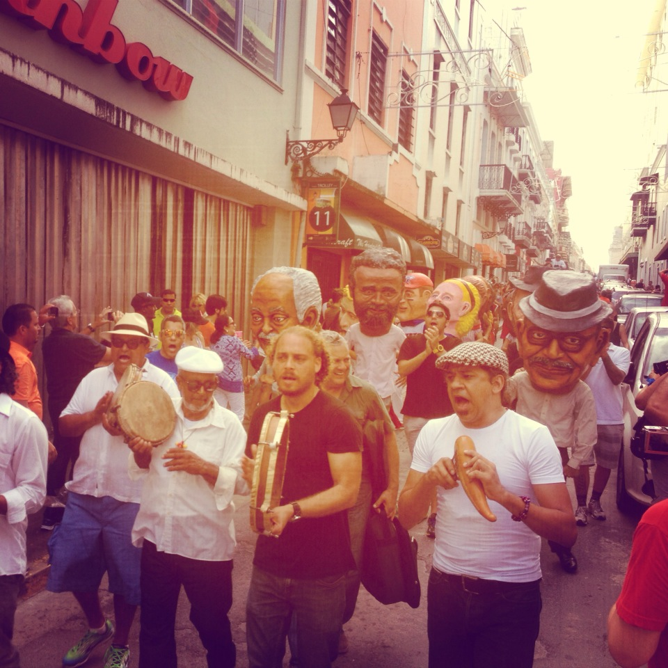 Pleneando en las fiestas de la calle San Sebastian