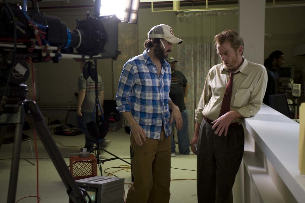 PRODUCTION STILL Kevyn Settle with Thomas Francis (DETECTIVE MYERS)