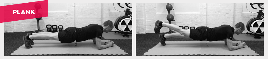 Really simple abdominal exercise but also works the shoulders, biceps and even the quads.Try lifting one leg up at a time for increased difficulty.