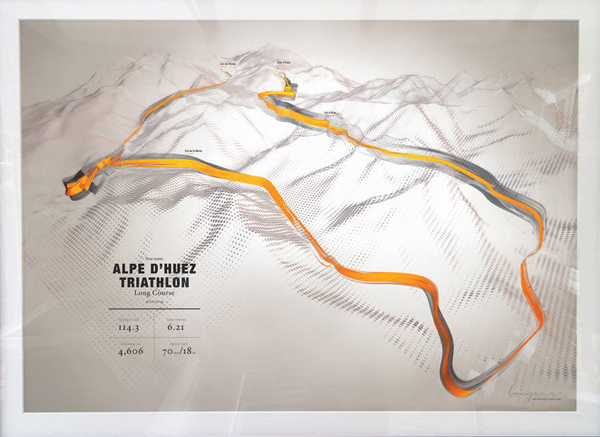 Now there's more to this print than meets the eye. You actually submit your own gps details of a ride you've done, and you'l get yourself your very own personalised map... More info here...