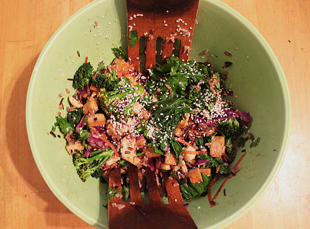 Wild Rice Salad with Miso Dressing