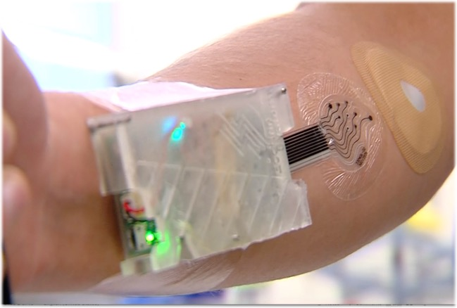 The surface of human skin is electrically noisy, which can cause confounding interference with direct-on-skin approaches to sensing electrolytes and other sweat molecules.  As a result, it is absolutely essential to perform rigorous on-body testing of sweat sensing systems against known analyte concentrations and comparative reference standards.  Such testing will prove whether sensor concentration readings are staying accurate over time.  Eccrine Systems has developed the necessary on-body testing systems and collection protocols for validating real-time sensor performance against known concentrations of specific molecules of interest.