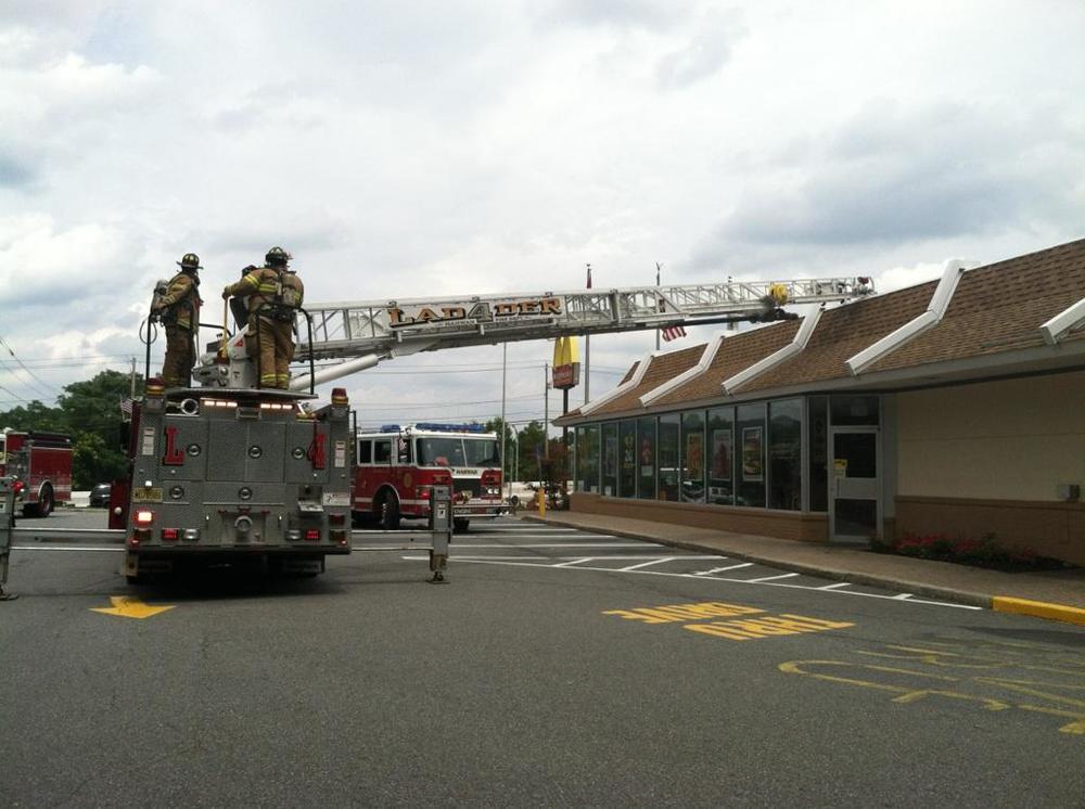 HVAC fire, McDonalds.