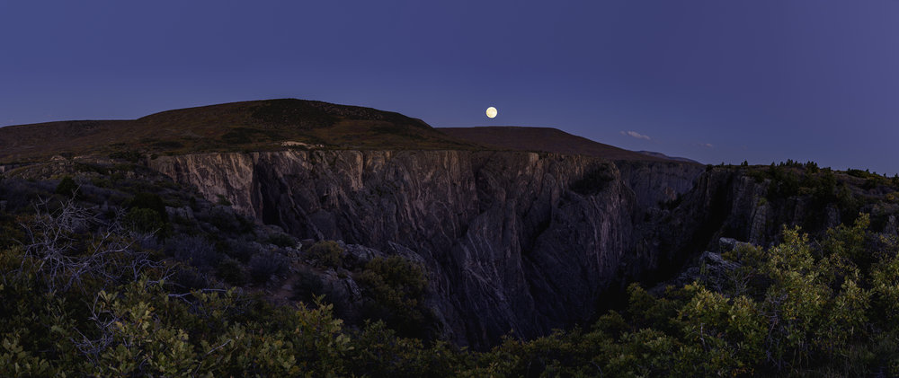 Full Moon Over The Narrows, Black Canyon Of The Gunnison                 ©Andrew Lockwood 2017